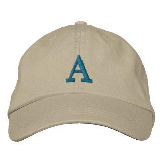 Casquillo adaptable de la inicial del monograma gorra bordada