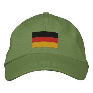 Casquillo ajustable bordado bandera alemana gorras bordadas