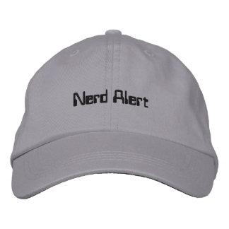 Casquillo alerta del empollón gorra de béisbol