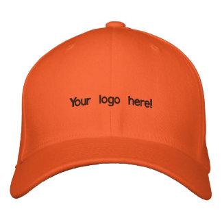 Casquillo anaranjado colorido gorras de beisbol bordadas