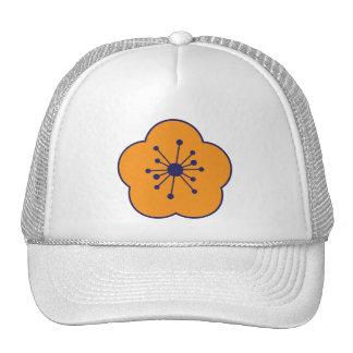 Casquillo anaranjado de la flor de WhimsyMonger Gorro De Camionero