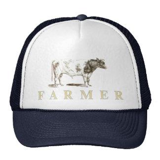 Casquillo auténtico del granjero con el viejo logo gorro de camionero