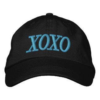 Casquillo azul y negro de XOXO de las señoras Gorra Bordada