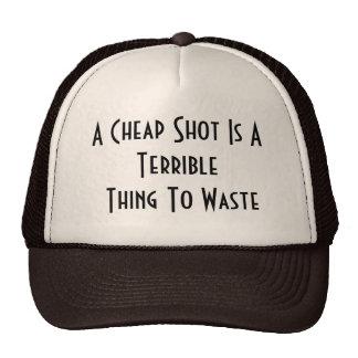 Casquillo barato del tiro gorras de camionero