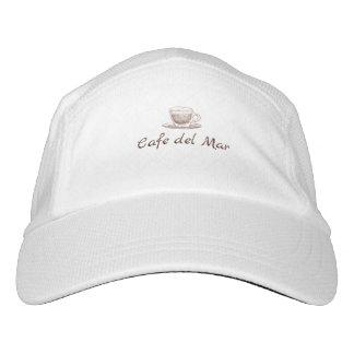Casquillo blanco gorra de alto rendimiento