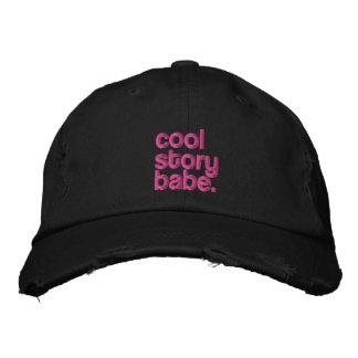 casquillo bordado bebé fresco de la historia gorras bordadas