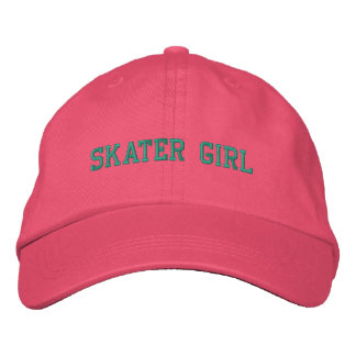 Casquillo bordado chica del patinador gorra de beisbol