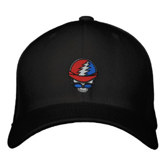 Casquillo bordado cráneo del motorista gorras de béisbol bordadas