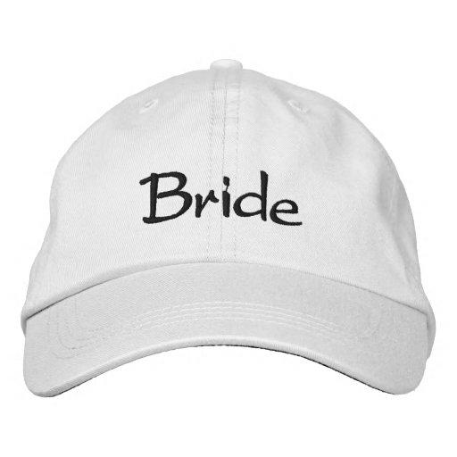 Casquillo bordado de la novia gorra de béisbol
