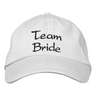 Casquillo bordado del boda de la novia del equipo gorra bordada