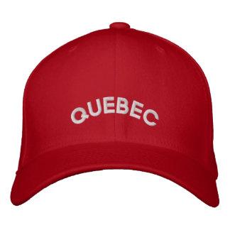 Casquillo bordado gorra de béisbol de Quebec Canad