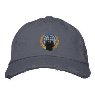 Casquillo bordado logotipo anónimo fresco gorra de beisbol