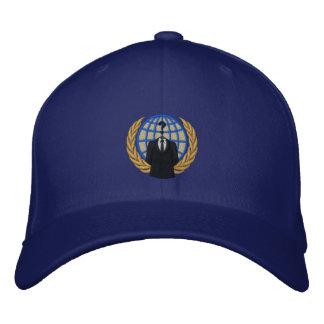 Casquillo bordado logotipo anónimo fresco gorra de béisbol bordada