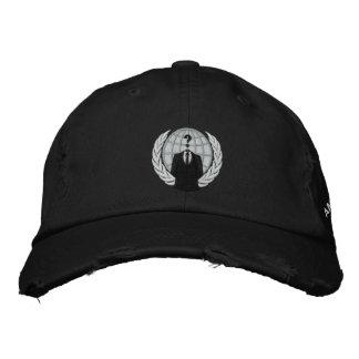 Casquillo bordado logotipo anónimo fresco gorras de beisbol bordadas