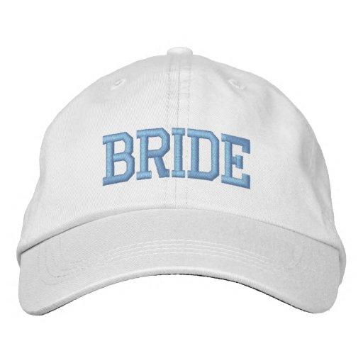 Casquillo bordado novia gorra de béisbol bordada