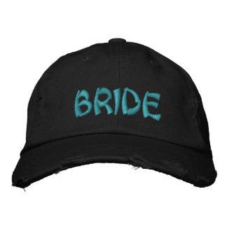 Casquillo bordado novia gorras de beisbol bordadas
