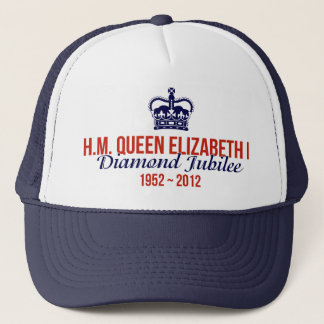 Casquillo conmemorativo del jubileo de diamante gorra de camionero