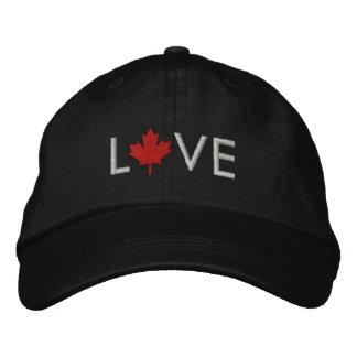 Casquillo de Canadá del amor - gorra de la hoja de Gorra De Beisbol Bordada
