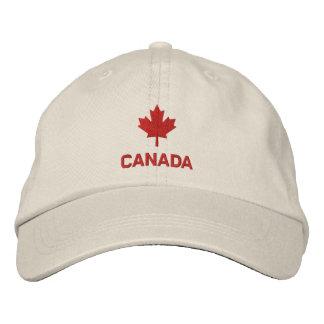 Casquillo de Canadá - gorra rojo de la hoja de Gorra De Béisbol Bordada
