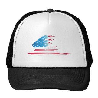 Casquillo de Eagle de la bandera americana Gorras De Camionero