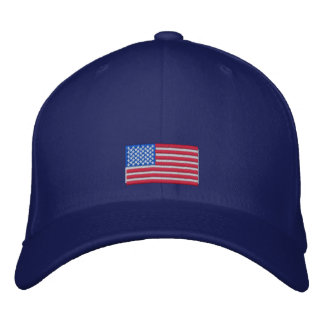 Casquillo de la bandera americana gorra de beisbol bordada