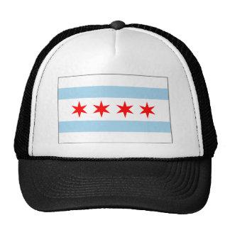 Casquillo de la bandera de Chicago Gorras De Camionero