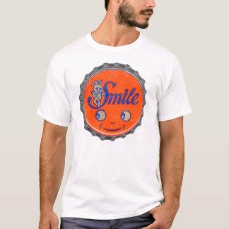 Casquillo de la gaseosa de la marca de la sonrisa camiseta