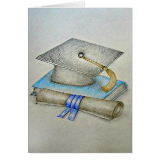 Casquillo de la graduación tarjeta de felicitación