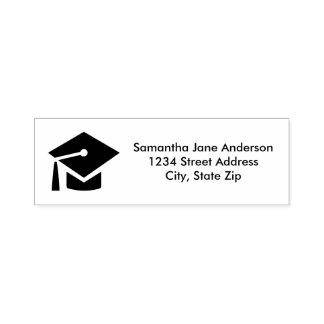 Casquillo de la graduación - Uno mismo-Entintar el Sello Automático