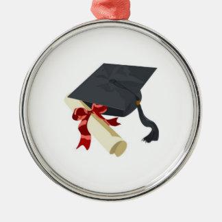 Casquillo de la graduación y ornamento del diploma ornaments para arbol de navidad