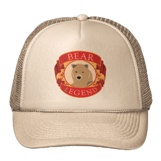 Casquillo de la leyenda del oso gorra