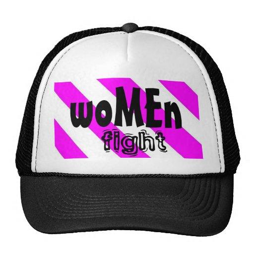 casquillo de la lucha de las mujeres gorra