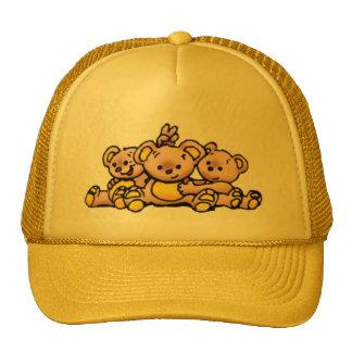 Casquillo de los osos de peluche gorros bordados