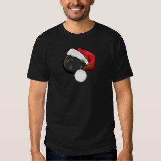Casquillo de Santa del béisbol para el navidad Camisetas