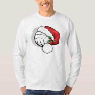 Casquillo de Santa del navidad del voleibol Camisetas