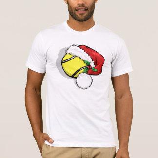Casquillo de Santa del tenis para el navidad Camiseta
