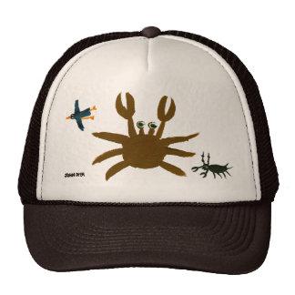 Casquillo del arte: Cangrejo, insecto, pájaro. Gorras