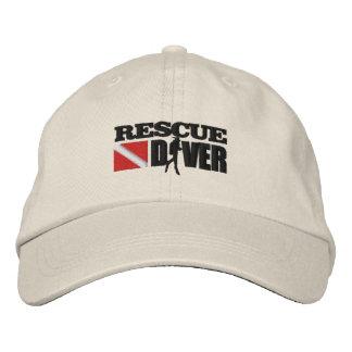 Casquillo del buceador 2 del rescate (bordado) gorra bordada