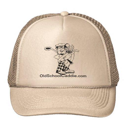 Casquillo del caddie de la escuela vieja gorra