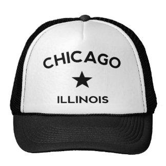 Casquillo del camionero de Chicago Illinois Gorros