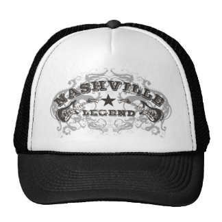 Casquillo del camionero de la leyenda de Nashville Gorros Bordados