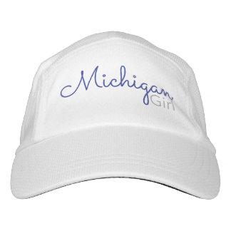 Casquillo del chica de Michigan Gorra De Alto Rendimiento