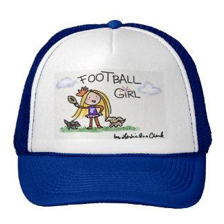 Casquillo del chica del fútbol gorras de camionero