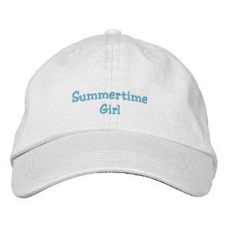 Casquillo del chica del verano gorra de béisbol bordada