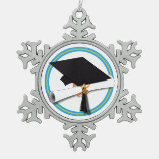 Casquillo del graduado con el diploma - oro y Lt Adorno