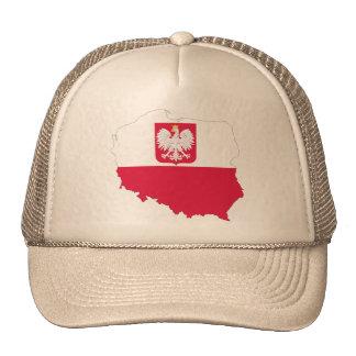 Casquillo del mapa del escudo de Polonia Gorra