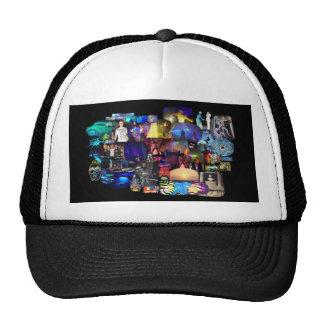 Casquillo del meshback del collage del tiempo del gorras