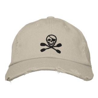 Casquillo del pirata de la paleta del kajak gorra bordada