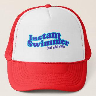 Casquillo inmediato del nadador gorra de camionero