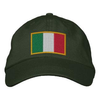Casquillo italiano bordado de la bandera gorras de béisbol bordadas